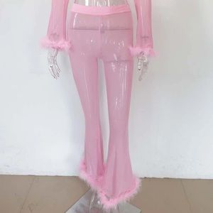 Other - Pretty Pink See Through Shirt & Pants Set 💕